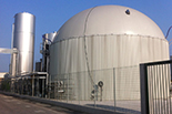 Anaerobic treatment plant for dairy planto