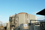 Biogas production plant from bio-plastics industry