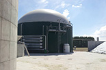 Biogas production plant from whey